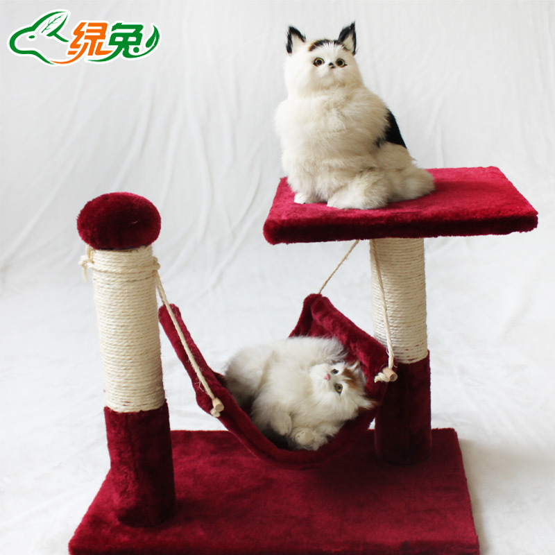2015 Sisal cat Furniture Climbing Tree Scratching Post For Cats Rascador Gato Russia free shipping