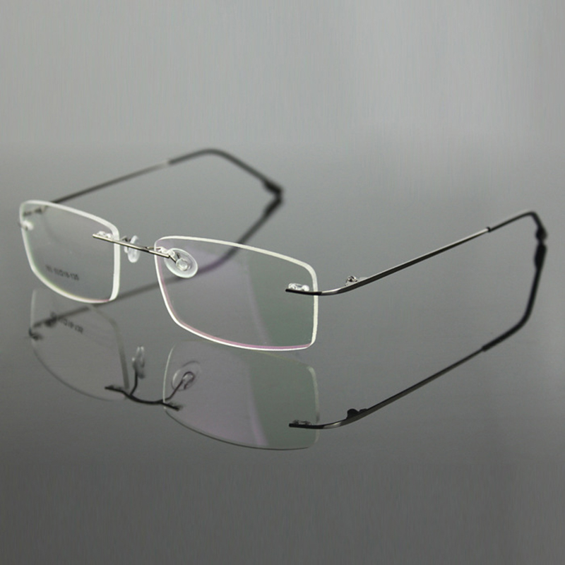 Rimless Glasses Lightweight : Rimless Titanium Ultra Light Weight Myopia Glasses Frame ...