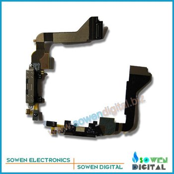 DHL UPS FREE SHIPPING for iphone 4g original black/white charging flex cable+best quality+wholesaler or retail