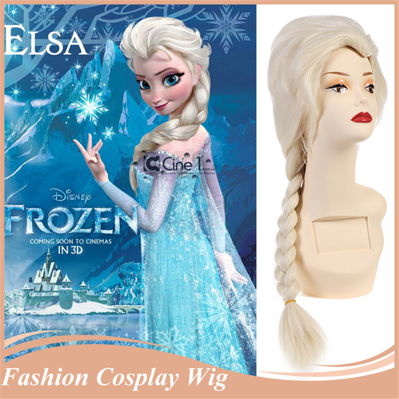 Style Blonde Cosplay Wigs Long Rapunzel Tangled Straight Queen Big Braid Women Party Wig Free Gift Cap - Queen*Hair store