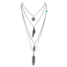 Hot Selling Jewelry Leaf Choker Collar Maxi Necklaces & Pendants Long Chain Multi Layer Necklace For Women