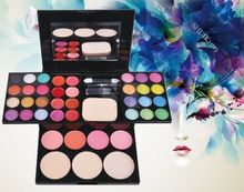 2015 New EyeShadow 39 Colors Makeup Palette Kit Foundation Powder Blusher Cosmetic super