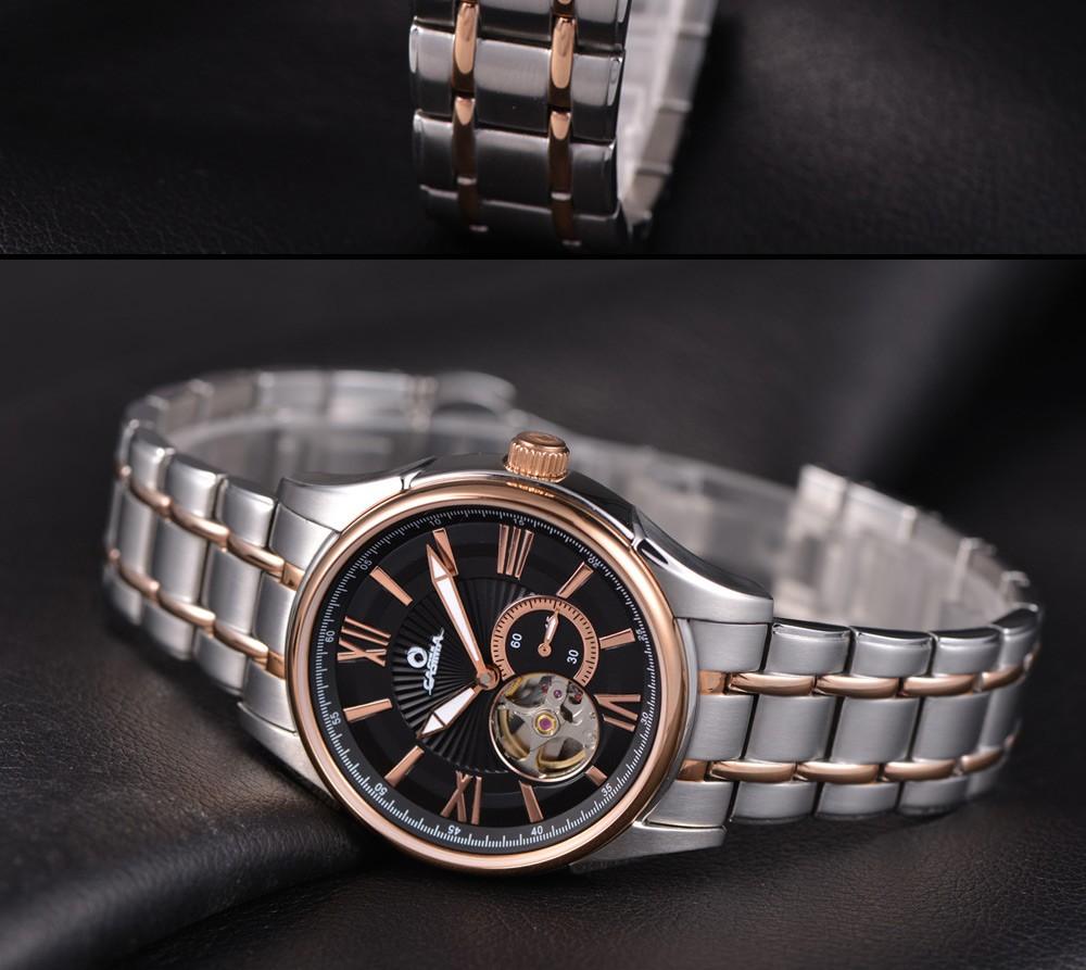 CASIMA мужские часы из нержавеющей стали автоматические механические мужские часы класса люкс Бизнес Моды Классические часы водонепроницаемый 100 м #6901