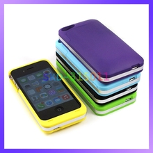 Newest Mix Colors Battery Bank Portable Charger 3200mAh Power Case for iPhone 4 4S