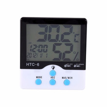 Buy High Accuracy LCD Digital Thermometer Hygrometer Indoor Electronic Temperature Humidity Meter Clock Weather Station for $8.15 in AliExpress store