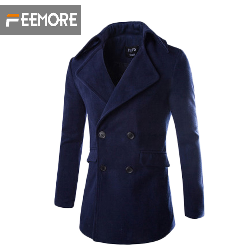 Mens 2015 Autumn and Winter Slim Woolen Overcoats Cappotto Men Brand Jackets Fashion Mens Windbreaker Outdoors Manteau HommeОдежда и ак�е��уары<br><br><br>Aliexpress