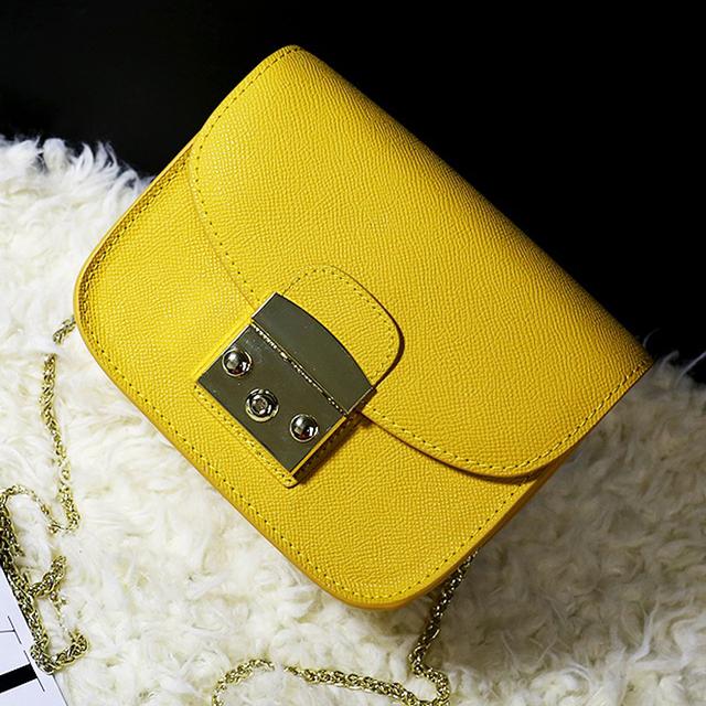 Классический дизайн конфеты цвет натуральная кожа закрылков дамы цепь сумка сумки кожаный кошелек через тела сумка