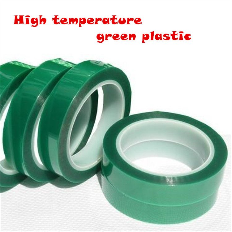 10 kinds of size High temperature green belt green high temperature adhesive tape green silicon tape PET plating tape 0035<br><br>Aliexpress