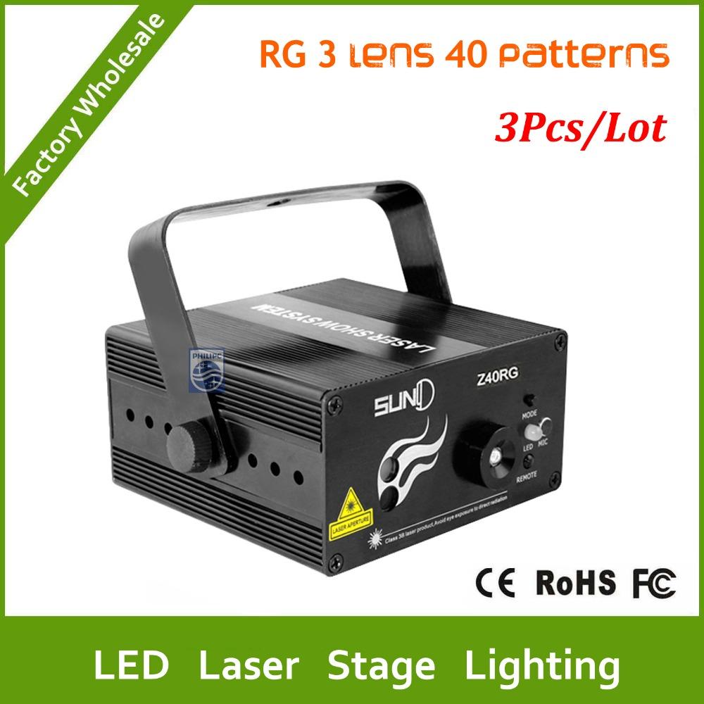Dhl Free Shipping 3pcs 3 Lens 40 Patterns Led Laser