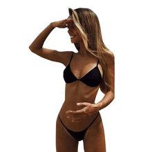 المرأة مبطن البرازيلي g-سلسلة ثونغ ثوب سباحة مونوكيني قطعتين ملابس السباحة ملابس السباحة ملخصات الملابس(China)