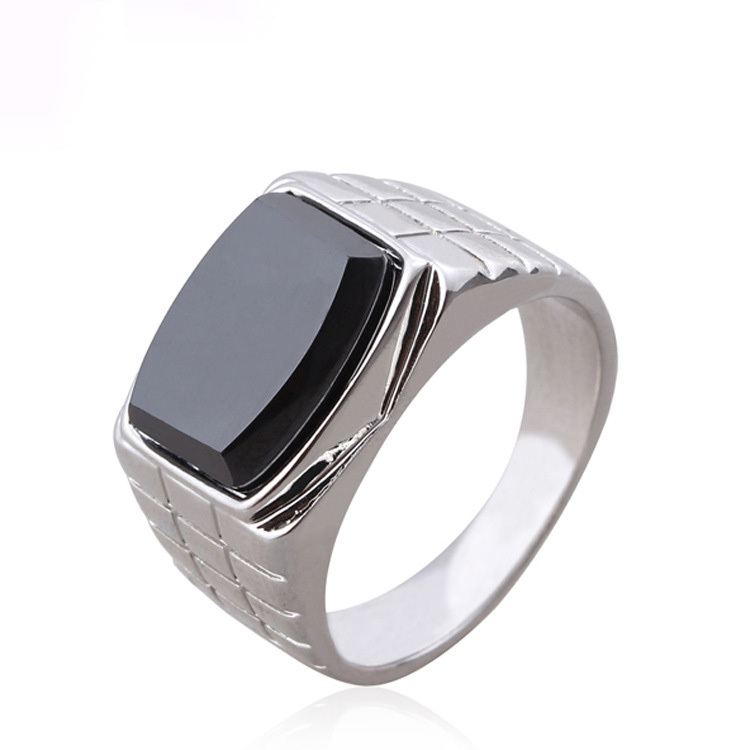 Free shipping fashion accessories men retro vintage black Vintage style fashion rings