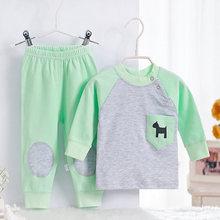 New 2015 High Quality 100% Cotton brand baby clothing set,boy/girls Toddlers children set baby boys girls 2 pcs baby printed(China (Mainland))