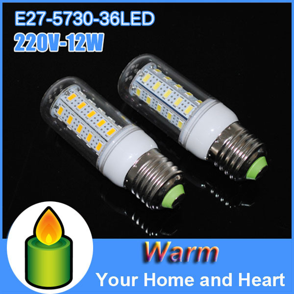 Energy saving lamp E27 5730 corn bulbs 2014 new energy 12w 220v 36leds Bar