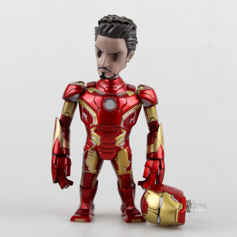 """5.5"""" Tony Stark Handsome Human Face With Helmet Marvel Avengers 2 Age of Ultron Bobblehead Toys PVC Action Figure Free Shipping(China (Mainland))"""