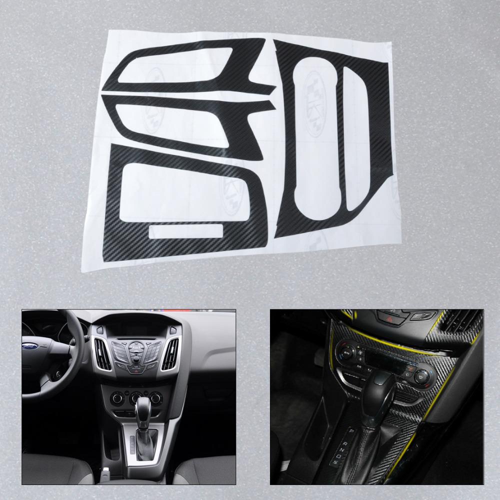 new car interior center console carbon fiber molding sticker decal for 2012 2013 ford focus 3. Black Bedroom Furniture Sets. Home Design Ideas