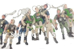 10cm length fashionable and cute mini soldier key chain