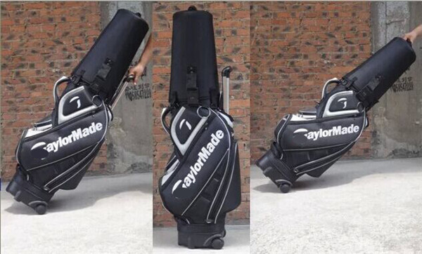 Brand golf bags men High quality PU staff golf bag with head cover golf bags china new arrival 2015(China (Mainland))