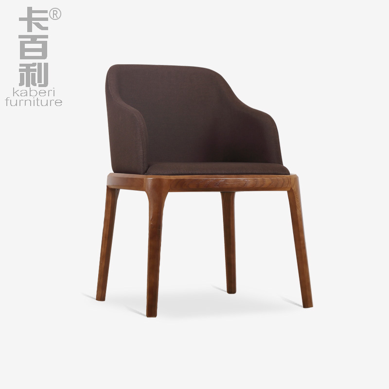 Carberry, American modern hotel dining table dining chair wood chair with armrest chair household soft leather chair(China (Mainland))