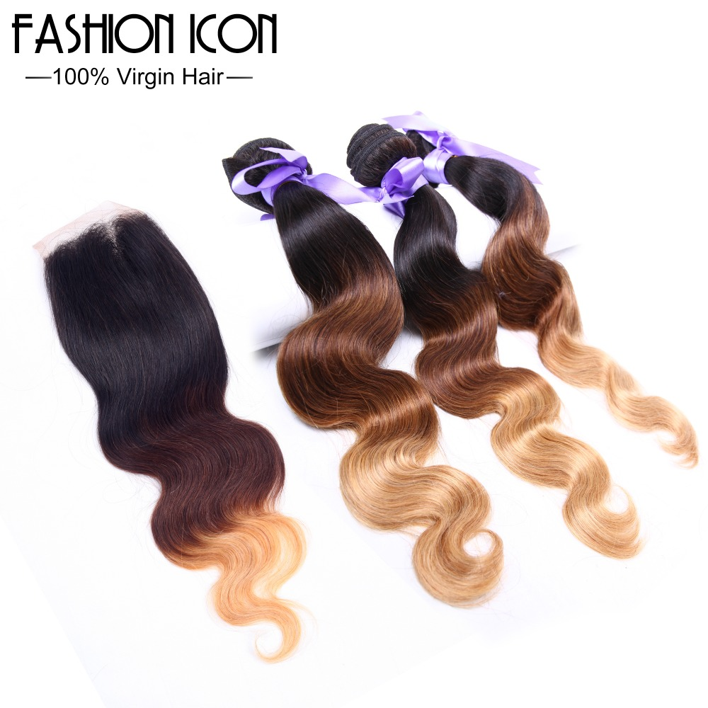 New Arrival Brazilian Ombre Hair With Closure Free Shipping 3 Bundles Of Body Wave Brazilian Virgin Hair With Closure Wholesale<br><br>Aliexpress