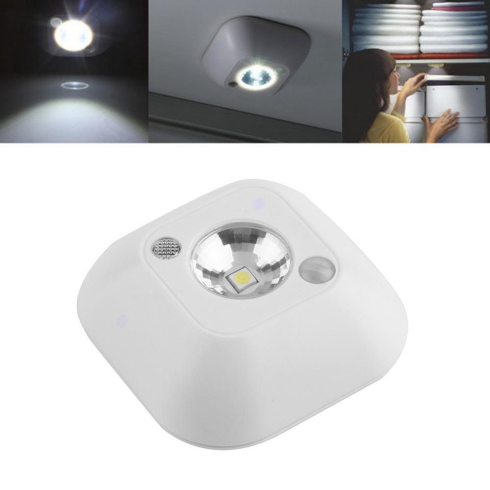 Led outside night light - 2016 Popular New Mini Wireless Infrared Motion Sensor Ceiling Night Light Battery Powered Porch Lamp