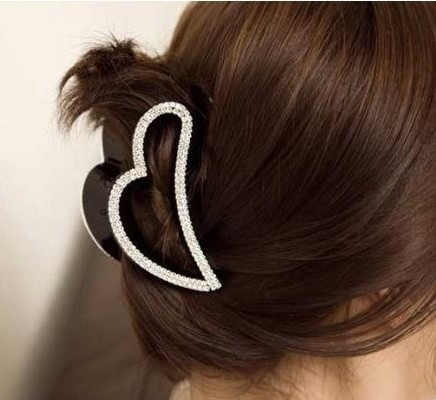 High Quality Women Hair Claws Hear Style Fashion Rhinestone Hair clips head accessories for lady 1 Piece Free shipping(China (Mainland))