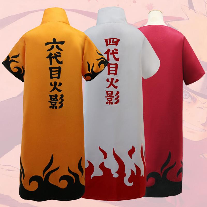 Naruto cosplay suit cloak four Naruto cloak Uzumaki Naruto cosplay costumes cloak adult Naruto cosplay clothing for men women(China (Mainland))