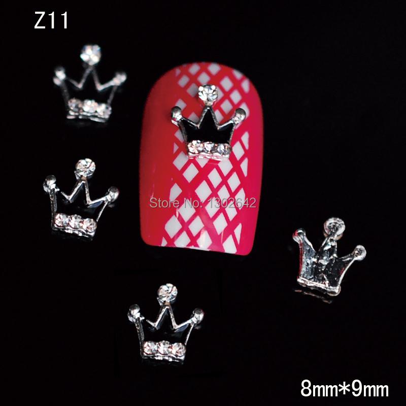 Z11 10pcs/lot New Heart Bow Nail Art DIY Rhinestone Sticker 3D Nail Accessories Fashion Nail Jewelry l(China (Mainland))