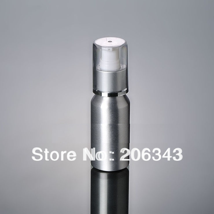 100pcs 100ml Aluminium pump bottle with silver collar or lotiong bottle