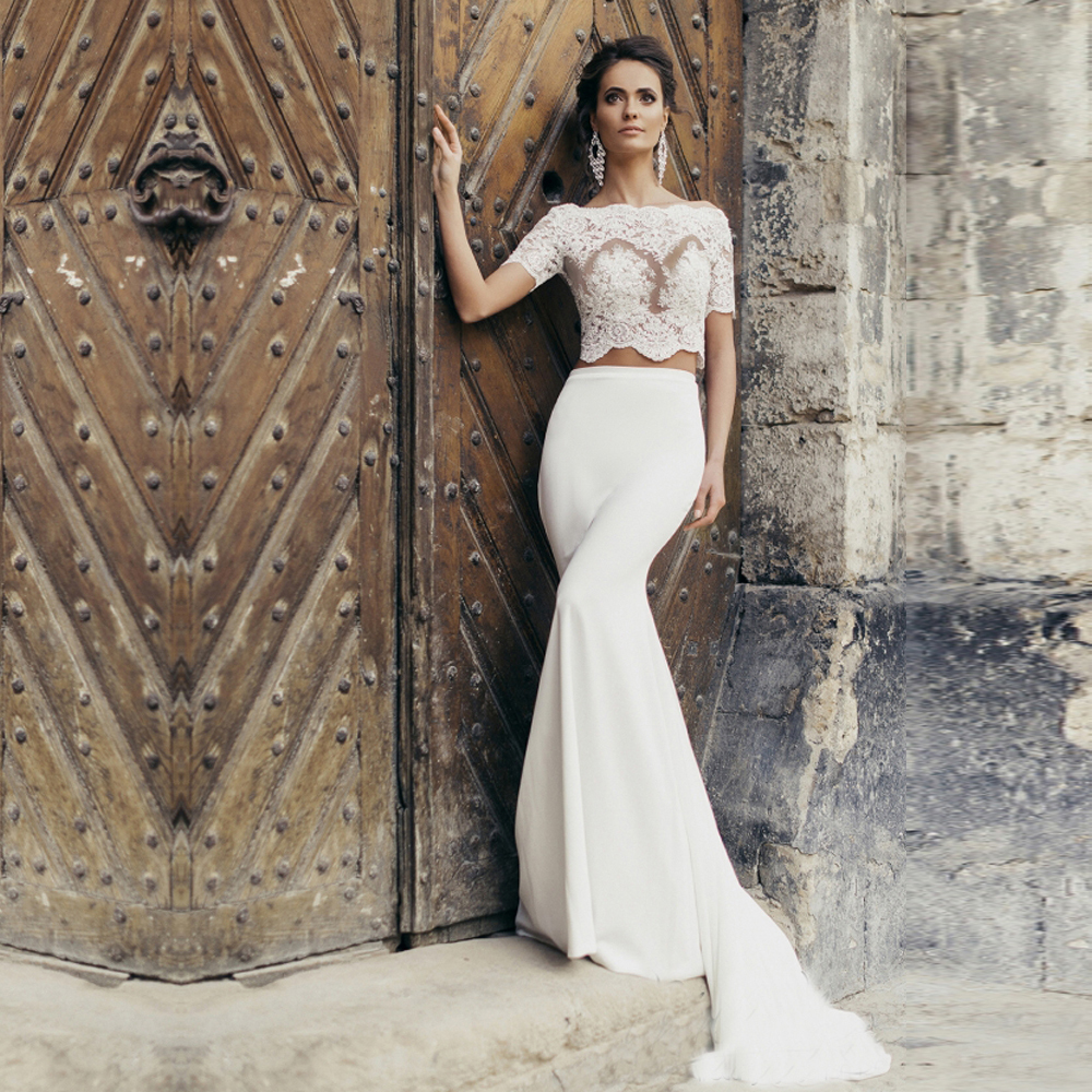 Outstanding 2 Piece Wedding Gowns Illustration - Top Wedding Gowns ...