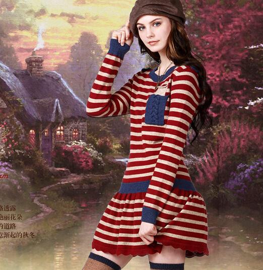 Robe rouge laine
