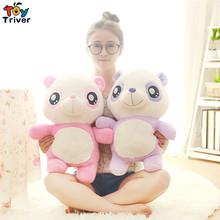 Cute cartoon pink purple panda stuffed toys plush doll birthday Day gift for baby kids children girlfriend present free shipping
