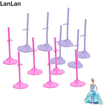 12pcs Toy Stand Model Support Frame Prop Up For Barbie Dolls Pink&Purple Doll Accessories Support for Barbie Doll Christmas Toy(China (Mainland))