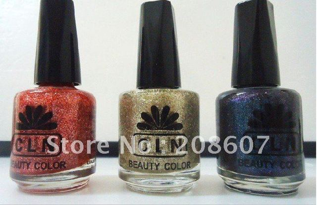 Nail Polish High Quality CLN Polish Oil / Glitter Nail Polish 12pcs/lot HOT SALE Freeshipping