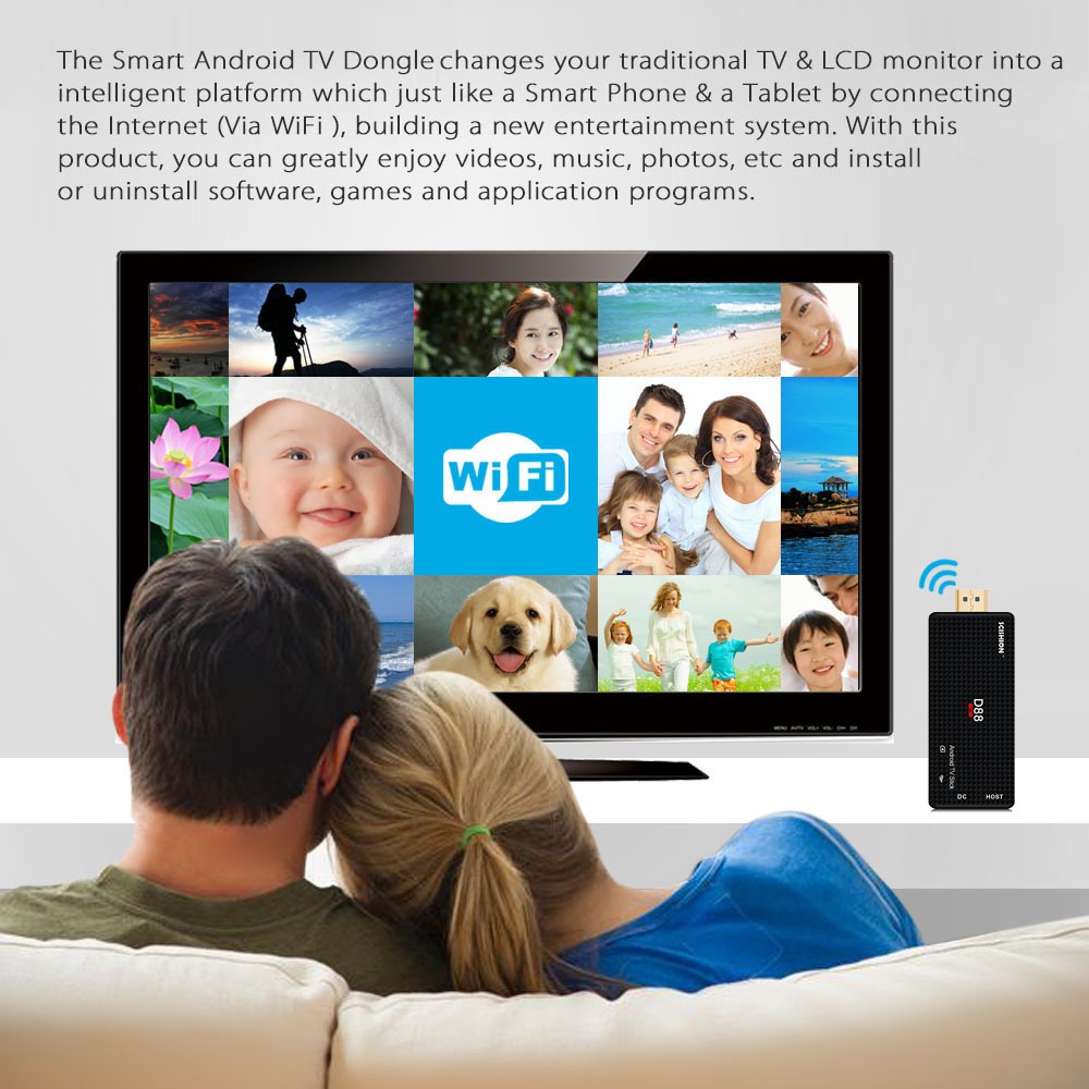 MK809 IV Android 4.4 TV Stick Dongle RK3128 Quad-Core 1G/8G Full HD Mini PC Android Kodi XBMC Miracast DLNA H.265 WiFi TV Dongle(China (Mainland))