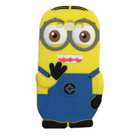 3D Cartoon Despicable Me Yellow Minion Soft Silicon Case Cover For iPhone 4s 5S SE 6 Plus Samsung S3 S4 S5 Mini S6 Edge A3 A5 A7