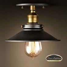 New Vintage LOFT American Black Metal Shade Ceiling Light Lampe Fixture 120V 220V 40W,Free Shipping(China (Mainland))
