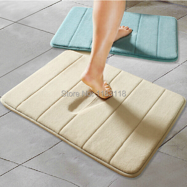 Super soft memory foam slow rebound waste-absorbing slip-resistant mats coral fleece doormat carpets for living room bathroom(China (Mainland))