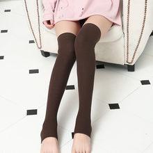 Kadın Örgü Uzun Çizme Çorap 2019 Yeni Moda Diz Yüksek Ince Bacak kalça uzun çorap bacak ısıtıcısı Kadın iç çamaşırı çorap(China)