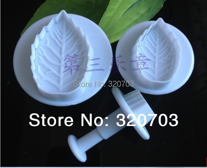 3pcs rosette leaf suit embossing dies sugar flowers die Fondant Cake Mould for DIY tools free shipping #020089(China (Mainland))