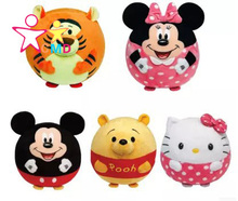 2016 new Newborn babies cartoon baby plush cloth art toy animals multi-function ball bell bell cloth