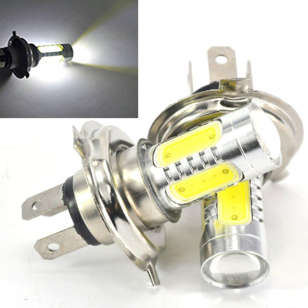 2Pcs Good Quality H4 Hi Lo Car Head light Xenon White 6000K LED Bulb 7.5W Fog Driving Light bulb 8-24V(China (Mainland))