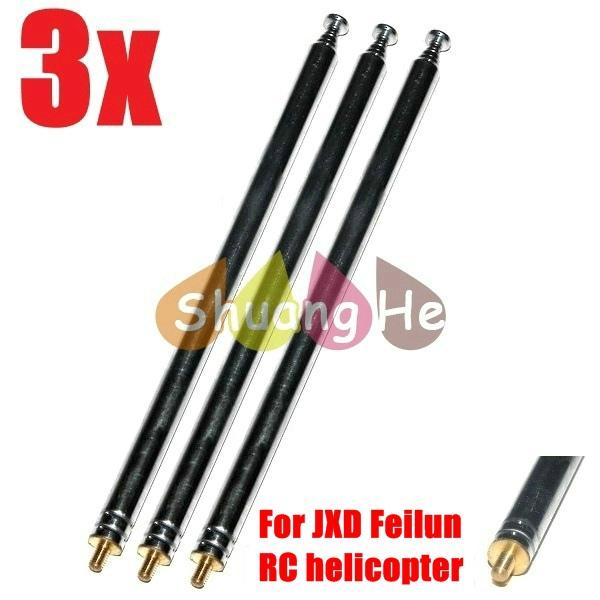 3x Antenna For Remotecontroler Sky Star 9009 Feilun FX037 JXD 333 338 342 349 350 350V 352 352W 355 356 RC Helicopter(China (Mainland))