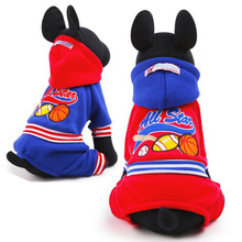 new dog autumn winter jumpsuits pet dog cotton clothes all stars sport hoodie 2 color size XS S M L(China (Mainland))