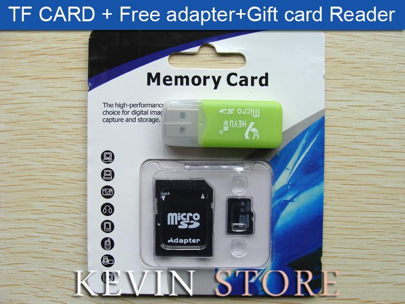 New 32 GB Micro SD card SD HC Transflash TF CARD USB 2.0 memory card+Free adapter+cartoon box+Gift card Reader!Free Shipping(China (Mainland))