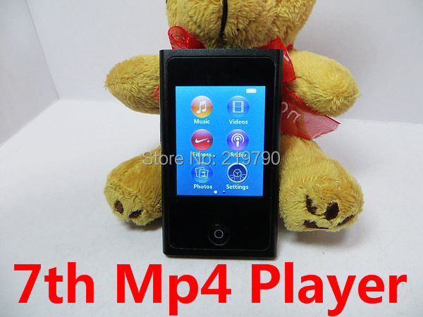 7th Gen 2.0 TFT Touch Screen 16GB Mp3 Mp4 player digital fm radio video music player download music directly Free ship 100pcs(China (Mainland))