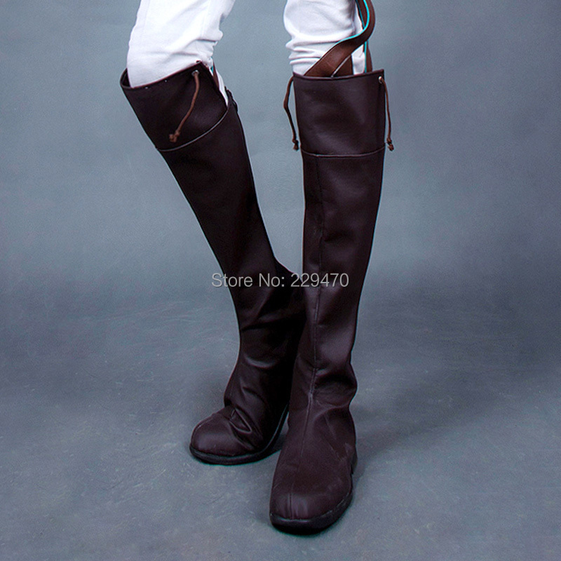 Attack on titan Boots Unisex Women Men Plus size 46 cosplayHigh-leg boots womans boots(China (Mainland))