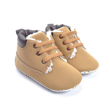 Warm Snow Baby Ankle Boots 0-18 Months Baby Toddler Boys Boots Plush Short Boot Booties Crib Shoes Antskid Kid Boy Winter Botas(China (Mainland))