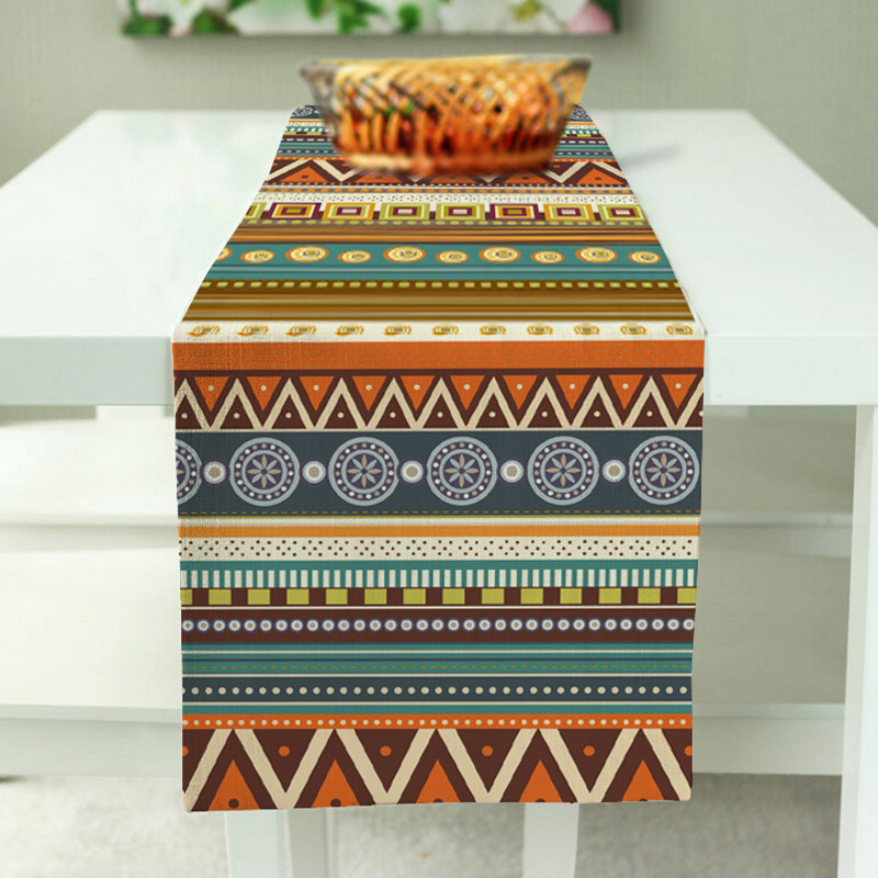 National Decoration Strapes Table Runner Modern Polyester / Cotton Fashion Pattern Home Decor Table Cloth 3 Size for choose(China (Mainland))