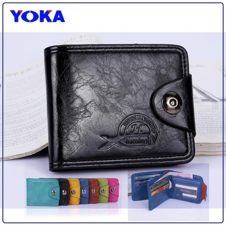 2015 NEW Wholesale men & women wallets Fashion oil wax pu leather short wallets women vintage purse bag Free dropping(China (Mainland))