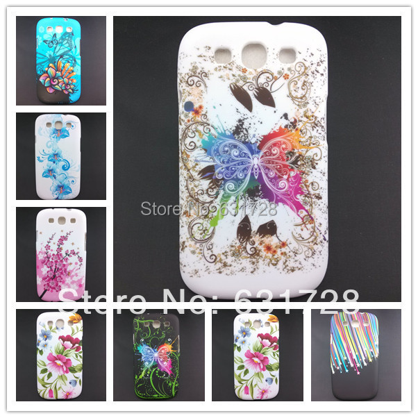 For Samsung Galaxy S3 S III S 3 III i9300 Cases Flowers TPU 13 Colors Pattern Cell Phone Back Case Covers protect shell(China (Mainland))